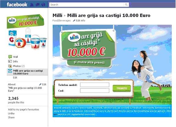Prima aplicatie Facebook - Syscom Digital - Milli